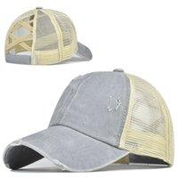 여성을위한 Hathathot 판매 패션 유행 반짝이 반짝이 야구 모자 레이디 회색 포니 테일 야구 모자 다시 여름 그물 모자를 여는