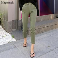 2020 Autumn High Waist Jeans for Women Trousers Straight Casual High Stretch Women Jeans Pants Zipper Woman Mujer 10415