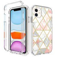 iPhone 13 Pro Max Case 럭셔리 대리석 휴대 전화 케이스 3 중장 듀티 Shockproof 완전 보호 커버 삼성 S21 Ultra Xiaomi Redmi 9 Huawei P40