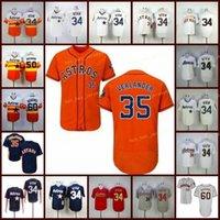 은퇴 한 34 Nolan Ryan Baseball Jersey 50 J. R. Richard 60 Dalls Keuchel 35 Justin Verlande Vintage Retro Cooperstown 메쉬 스티치 풀오버