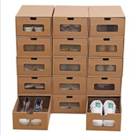 Drawer Type Paper Shoes Storage Box Unisex Thickening Papers Quality Shoes Storage Boxes Women Men Organizer Case