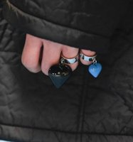 21SS Raf Simons Men's and women's Love Pendant ring fashion party street punk accessories