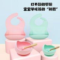 Пищевой сорт силикагель-гель, кормления детской столовой посуды Детская натуральная чаша ложка в присоске Дополнительный 2Кай