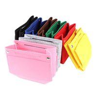 Cosmetic Bags & Cases 1PCS Makeup Handbag Organizer Portable Felt Cloth Insert Bag Travel Inner Purse