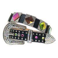 2021 Low Price Wholesale Western Luxury Bling Rhinestones Crystal Strap Cowboy Cowgirl Diamond Studded Belts Cinto De Strass for Men Women