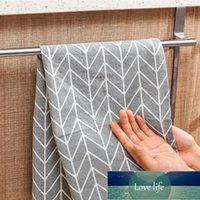 Porte-serviettes sur porte à porte Barre de serviette suspendue Titulaire en acier inoxydable Salle de bain Cuisine Armoire Cintre Cinfort Accessoires de salle de bain