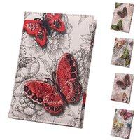 Portefeuille Portefeuille Portefeuille Papillon Impression Titulaire de la carte étanche Cuir Voyage Passeport Passeport Femme Sac