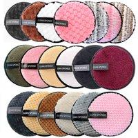 Wiederverwendbare Make-up-Remover-Pads Baumwolltücher Mikrofaser Make-up Entfernung Schwamm Baumwollreinigungspads Werkzeug