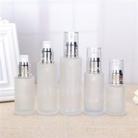 Frosted Glass Cosmetic Bottle Lotion Pump Container Empty Refillable Perfume Spray Bottles 20ml 30ml 40ml 50ml 60ml 80ml 100ml