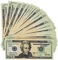 100 قطعة فيلم الدعامة المال 20 دولار الفواتير واقعية، واللعب المال لحزب عيد ميلاد، والديكور ومقاطع الفيديو