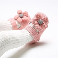 First Walkers Infant Toddler Baby Girls Knit Pattern Single Shoes Prewalker Bowknot Flower Princess Shoes+Headband Set Sandals40