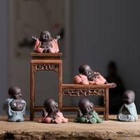 N PALE HAPE Happy Maitreya Будда чая домашнее животное чайные украшения керамический дом декор суккулентных растений украшения 4 стиль для выбора 2075 V2