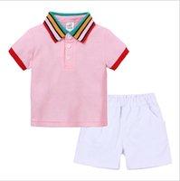 Summer Clothing 2PCS Sets Toddler Boys Tops T-shirt+ Shorts Baby Girls Outfits Kids Fashion Clothes