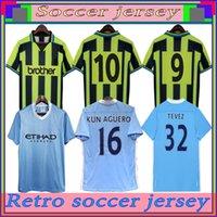 98 99 Retro Mens 3rd Soccer Jersey 11 12 KUN AGUERO SILVA TEVEZ TOURE DZEKO DE JONG KOMPANY Home Football Shirt Short Sleeve Uniforms