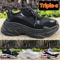 New Triple-S clear sole Platform sneakers fluo triple black white brown rainbow sole volt flax neon green men women running shoes