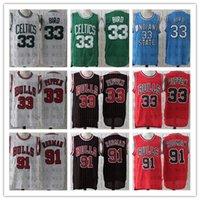 Uomo di alta qualità Economico Bird 33 Pippen 33 Rodman 91 Jersey di pallacanestro all'aperto Camoon comodo e traspirante Jersey sportivo