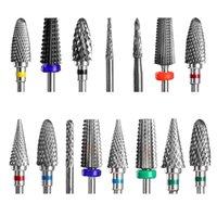 Dmoley 세라믹 텅스텐 네일 드릴 비트 전기 매니큐어 기계 밀링 커터 Burr Pedicure 액세서리 도구 아트 장비