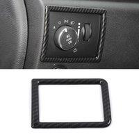 Araba Dekorasyon Ön Far Anahtarı Düğmesi Çerçeve Trim Sticker Kapak İç Aksesuarlar Jeep Grand Cherokee 2017-2020