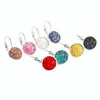 Minimalism Round Rhinestone Pendant Clip on Earrings for Women Silver Color Hanging Earring Piercing Oorbellen Fashion Ears Jewelry 2021 Lovers' Gift