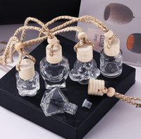 Araba Parfüm Şişesi Cam Dekorasyon Çanta Kolye için 8 ml Parfüm-Süsleme Hava Spreyi-Uçucu Yağlar Difüzör Koku HWA9086