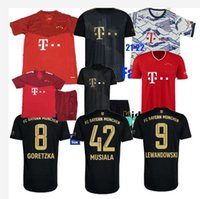 21 22 FC ميونيخ كرة القدم الفانيلة Lewandowski عاقل 2021 2022 مراوح لاعب نسخة musiala مولر ديفيز كرة القدم قميص الرجال كيت كيت