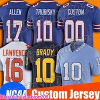 17 Josh Allen Jersey Ncaa College Football Mitchell Trubisky Jerseys 14 Stefon Diggs 27 Tre'Davious Jersey Branco Tremaine Edmunds Zack Moss