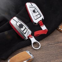 Car Suede Leather Key Holder Cover For X1 X3 X4 X5 X6 E90 E6...