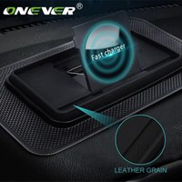 Other Auto Electronics Onever 10W Car Wireless Charger Charging Dock Cushion Pad Fast Phone Led Indicator Adjustable Soft Rubber