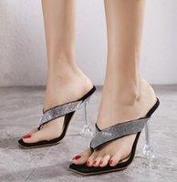 # 5492 Yaz Kadın Sandalet Kare Başkanı Kristal Strass Rhinestone Flip Flop Terlik Kadın Ayak Seksi Sandal ve Terlik Kadın Mizaç Lady