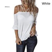 Beiläufige sexy frauen t-shirts off schulter flaume sleeve slash neck lose hemd plus größe kleidung dünne sommer tops s-5xl frauen t-shirt