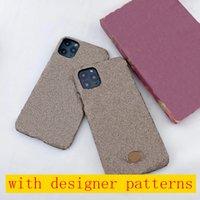Custodia classica del telefono di design per iPhone 13 Pro Max 12 12Pro 11 11Pro X XS Max XR 8 7 Plus Lettera Metallo Logo Cover per iPhone12 12mini 7plus 8plus A01
