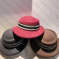 أزياء دلو قبعة مصمم واسعة بريم القبعات الدافئة الصوف كاب للرجل امرأة الشارع الكرة قبعات 5 ألوان أعلى جودة