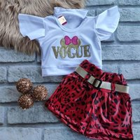 Clothing Sets Toddler Kid Girls Casual Clothes Sets, Round Neck Short Sleeve Sequin Decor Tops +Leopard Shorts Summer 2Pcs Outfits 1-6Years