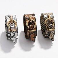 Braccialetti della pelle del serpente del serpente della moda dell'annata per le donne 2021 la stampa del leopardo in pelle Banglebracelets Regali dei regali del partito Bracciale dei gioielli