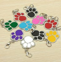 Lobster Clasp Pendant Keychain Charms Keyring Key Chain Dog Paw DIY Pet Collars ID Tag Accessories for Dog Lovers wjl3962