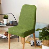Cubiertas de silla ToDIO CUALZA DE CUENCIA DE SPANDEX DE PISTA 1 PIEZA Tela de estiramiento universal para el restaurante Sillas para el hogar Subvence
