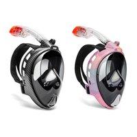 Diving Masks Scuba Underwater Mask Full Face Anti Fog Snorkel Breathing Swimming Equipment Kid Children Adult