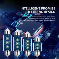 1PC CANBUS 높은 밝은 밝은 크리 어 3SMD C5W FESTOON 31-36-39-41mm 자동차 LED 전구 C10W 인테리어 돔 조명 자동 장갑 상자 램프 6000K 다이오드