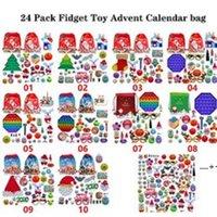 24 Paketi Noel Fidget Oyuncak Advent Takvim Çantası Aralık Aralık 24 adet / takım Denizci Duyusal Oyuncaklar Deniz FWE9538