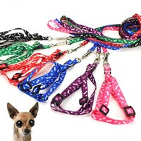 10 Colors Dog Harness Leashes Nylon Printed Adjustable Pet Dogs Collar Puppy Cat Animals Accessories Pets Necklace Rope Tie Collars