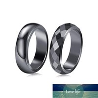 Flat Hematite Ring for Women Men Black Fashion Smooth Round Natural Stone Finger Ring Teen Couple Party Banquet Jewelry Gift Factory price expert design Quality