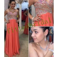 Luxury Blush Pink A Line Prom Dresses Strapless Beaded Crystals Formal Evening Party Gowns
