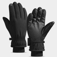 Cycling Gloves Outdoor Full Finger Touch Screen Mountain Bike Downhill Motocross Winter Windproof Plus Velvet Warm