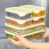 Bouteilles de rangement Bottes Conteneur de nourriture en verre avec boîte de couvercle en silicone Busty Bento Oragnizer Cuisine Accessoires Vaisselle Micro-ondes Disponible pour