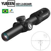 Yubeen HD 1-6x24 Область прицела CQB Прицел Тактический Оптический Прицел Снайперская Охота Охота Навес Рифлесcope