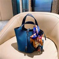 Tasarımcı Çanta Bayanlar Orijinal Tek High-end Stil Sebze Sepeti Çanta Omuz Çantası Messenger Çanta Palmiye Desen Dekorasyon Birden Çok Renk Mevcut