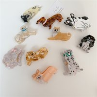 Acetate Cute Animal Clip Bulldog Dog Cat Hair Claw Clips Hairpin Hairdresser for Women Girl Head Accessories Gifts 11 styles