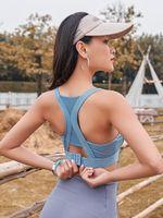 Gym Vêtements LUSURE SPORTS Gilet Femme Fitness Fitness Film Running Beauty Retour BRA recueillis sous-vêtements de yoga antichoc et affaissement
