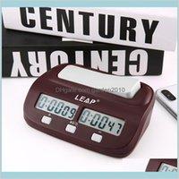 Horloges de la table de bureau Accueil Décor Garden 2020 PROFESSIONNELLE Compact Digital Chess Clock Compte Up Down Timer Electronic Board Jeu Bonus Co