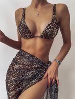 Tie-Dye Print Bikini Drei-teilig Set Frauen Badebekleidung Badeanzug Lace Up Verband Badeanzug Strand Tragen Sie Frauen